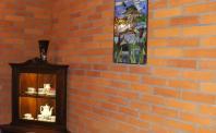 Płytki z ciętej cegły wnętrze obraz